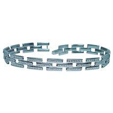288 Diamond Tennis Line Bracelet 14K White Gold