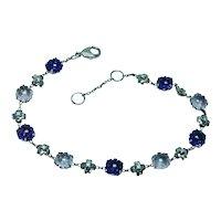 Vintage Amethyst Diamond Bracelet 18K Rose Gold Estate