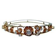Diamond Bracelet 18K Gold Heavy Designer Possibly French