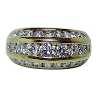 1.70ct VS-GH Diamond Ring Band 18K Gold Heavy