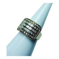 Asscher Square Carre Cut Diamond Ring 18K Gold 1.76ct VVS-G