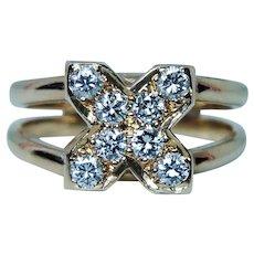 Vintage Diamond Ring 14K Gold 4 stone VS-GH