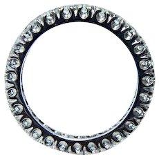 Platinum Diamond Eternity Ring Band Size 6.25