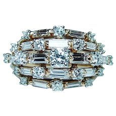 OSCAR HEYMAN 2.2ct Diamond 18K Platinum Ring Designer