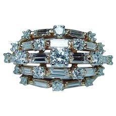 OSCAR HEYMAN 2.2ct Diamond 18K Platinum Ring Designer