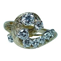 Kurt Wayne Diamond Ring 18K Gold Vintage Designer