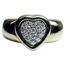 PIAGET Diamond 18K Pink Gold Heart Ring HEAVY Designer size 7.25