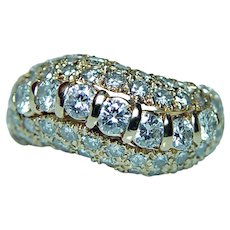 Designer Pave Diamond 14K Pink Gold Ring 1.60ct SUPER!