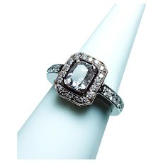 Radiant Diamond 14K Gold Engagement Halo Ring 1.03ct center GIA Cert