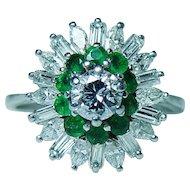 2ct Baguette Marquise Diamond Platinum Ballerina Ring GIA Certified