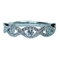 Diamond 14K White Gold Pave Ring Band