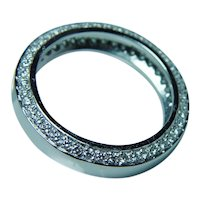 18K White Gold Diamond Eternity Ring Band Size 6.5