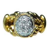 Vintage Diamond Ring 18K Gold Platinum Very FINE