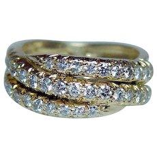 Gregg Ruth Diamond Ring Band 18K Gold Designer Signed