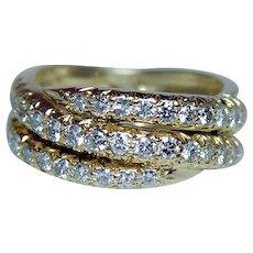 Gregg Ruth Diamond Ring Band 18K Gold Designer Signed Estate