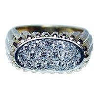OSCAR HEYMAN Brothers Diamond Ring 18K Gold Platinum Designer