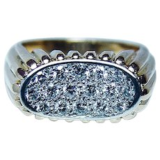OSCAR HEYMAN Brothers Diamond Ring 18K Gold Platinum Designer