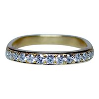 Designer Diamond 18K Gold Ring Band JFA Jean Francois Albert