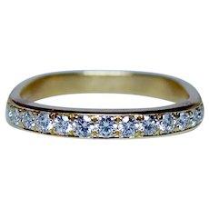 Designer Diamond 18K Gold Ring Band JFA Jean Francois Albert