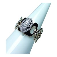 Krementz Diamond Halo Ring Band 14K Gold