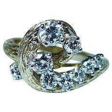 Vintage Kurt Wayne Diamond Ring 18K Gold Vintage Designer