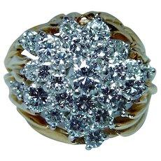 Kurt Wayne Vintage Diamond Ring 18K Gold Designer Signed Estate 2.54ct VVS-E