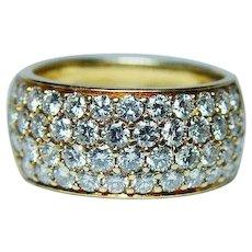 Kurt Wayne Vintage 2.4ct Diamonds Ring 18K Gold Designer Signed Estate
