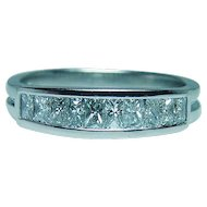 Designer Trapeze Platinum 18K White Gold Diamond Ring Band