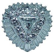 Platinum Trillion Baguette Diamond Ring GIA Certified VVS-FG