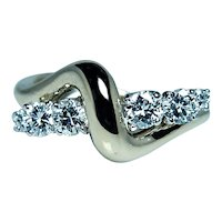 McTeigue 18K Gold Platinum Diamond Ring Designer