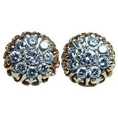 2.4ct Diamond Earrings 18K Rose Gold Screwbacks VS-G