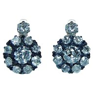 Antique 2.9ct Old Miner Mine Diamond Earrings 14K Rose Gold Dormeuses