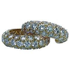 Tiffany & Co Diamond Hoop Earrings 18K Gold 1.70ct France