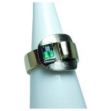 Gubelin Gem Colombian Emerald Ring 18K Gold HEAVY Swiss Designer