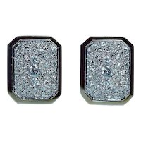 2.7ct Diamond Earrings Large 14K Gold OMEGA back