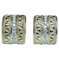 Vintage H Stern Diamond Earrings 18K Gold HEAVY Estate