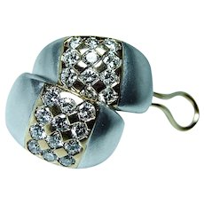Vintage 2ct VVS-F Diamond Earrings 18K Gold Super!