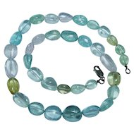 "270 ct Natural Aquamarine Necklace 19"" Blue Pink Green Yellow"
