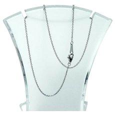 "Solid Platinum 18"" Chain Necklace"
