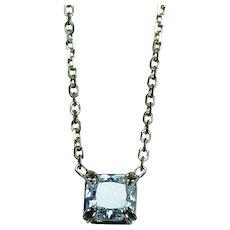 Authentic Cartier .54ct Cushion Radiant Diamond Solitaire Necklace 18K Gold