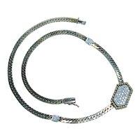 Vintage Formal Diamond Necklace 14K Gold Heavy Estate VS-G