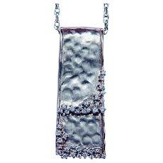 Vintage 14K Gold Diamond Necklace Slide Estate Designer Sophia