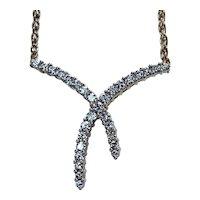 Vintage Diamond Necklace 14K Gold Paloma Picasso Style Estate