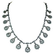 Imperial Russian Antique 12ct Old European Diamond Necklace Tsarist GIA Boxed