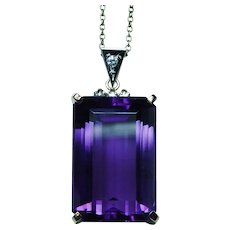 H Stern 23ct Amethyst Diamond 18K Gold Platinum Pendant Giant