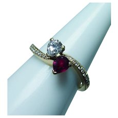 Kurt Wayne Ruby Diamond Ring 18K Gold Designer Signed