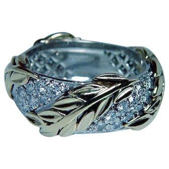 Vintage Tiffany & Co Platinum 18K Gold Diamond Eternity Ring Heavy Sz 6.5-6.75