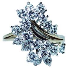 TIFFANY & Co. 3ct Diamond Ring 18K Gold Designer Video