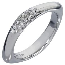 Tiffany & Co. Diamond Cushion Ring Band 18K White Gold
