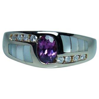 Designer KABANA Tourmaline Diamond 14K Gold Ring